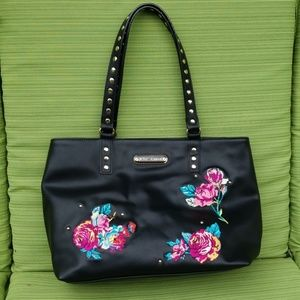 Betsey Johnson Embroidered Floral Purse